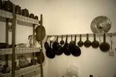 Kitchen utensils. Some old and vintage kitchen utensils stock photo