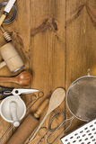 Kitchen Utensils - Space for Text Stock Photography