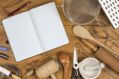 Kitchen Utensils - Space for Text Royalty Free Stock Photos