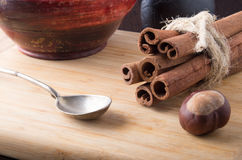 Kitchen utensils and spices close-ups Stock Photography