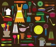 Kitchen utensils royalty free illustration