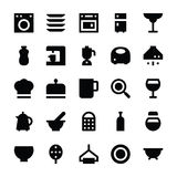 Kitchen Utensils Vector Icons 3 Royalty Free Stock Photography