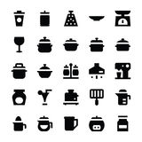 Kitchen Utensils Vector Icons 9 Stock Photography