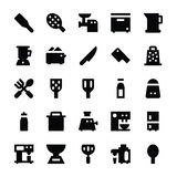 Kitchen Utensils Vector Icons 8 Royalty Free Stock Photo
