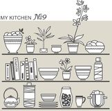 Kitchen utensils. Vector illustration Stock Images