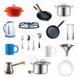 Kitchen utensils, vector illustration Stock Photo