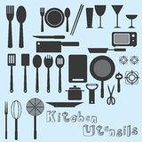 Kitchen Utensils Vector Royalty Free Stock Photo