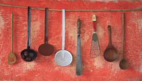Kitchen utensils, Royalty Free Stock Images