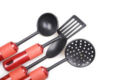 Kitchen utensils on white Royalty Free Stock Photography