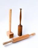 Kitchen utensils. On white Stock Photos