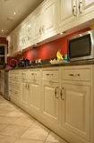 Kitchen Utility area. Row of cabinets in a kitchen utility area Stock Images