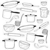 Kitchen Utility Doodle Royalty Free Stock Photography