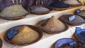 Kitchen, variety of colorful spices and different flavors, spice Royalty Free Stock Photo