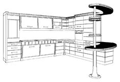 Kitchen Vector 01 royalty free illustration