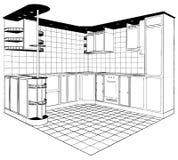 Kitchen Vector 03. Kitchen Interior Isolated Illustration Vector Royalty Free Stock Image