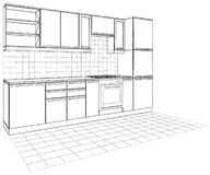 Kitchen Vector 04 Royalty Free Stock Photography