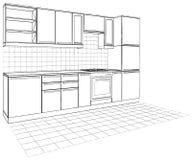 Kitchen Vector 04. Kitchen Interior Isolated Illustration Vector Royalty Free Stock Photography