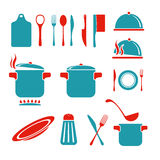 Kitchen vector icons set Stock Photos