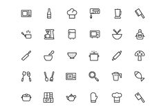 Kitchen Vector Line Icons 2 Royalty Free Stock Image