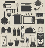 In The Kitchen. Vector works, Kitchen equipment icon flat design Stock Images