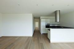 kitchen view, parquet floor Stock Photos