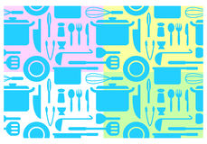 Kitchen wallpapers, vector Stock Image