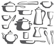 Kitchen ware Royalty Free Stock Images
