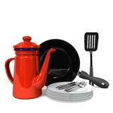 Kitchen Ware Front View Stock Images