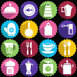 Kitchen ware icon set Royalty Free Stock Photo
