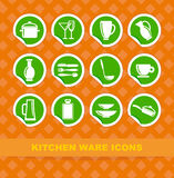 Kitchen ware icons Royalty Free Stock Photography