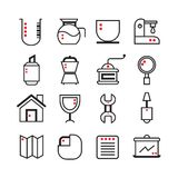 Kitchen ware icons Stock Photography