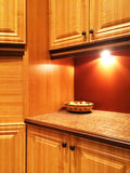 Kitchen in warm orange colors Stock Image