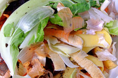 Kitchen waste fruit and vegetable scraps Royalty Free Stock Photos