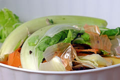 Kitchen waste fruit and vegetable scraps Stock Photo