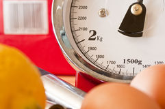Kitchen weighing scales Royalty Free Stock Photography