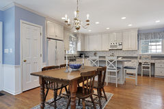 Kitchen with white cabinetry Royalty Free Stock Photo