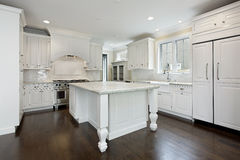 Kitchen with white cabinetry Stock Image