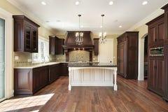Kitchen with white island Royalty Free Stock Photo