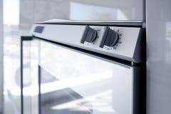 Kitchen white oven modern architecture detai. L house interior deco perspective Stock Image