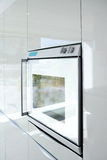 Kitchen white oven modern architecture detail Stock Photos