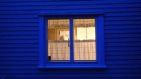 Kitchen window in blue light royalty free stock photography
