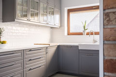 Kitchen with a window. And a cutting board royalty free stock images