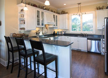 Kitchen With Bar Stock Images