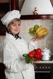 Kitchen woman stock images