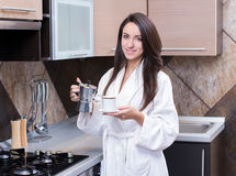 Kitchen Woman Royalty Free Stock Photography