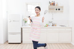 Kitchen and women royalty free stock photo