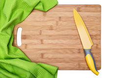 Kitchen wooden board for cutting food. Royalty Free Stock Photos