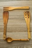 Kitchen wooden utensil of scapula, Royalty Free Stock Photo