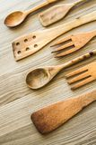 Kitchen wooden utensil of scapula, Royalty Free Stock Photography