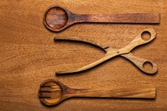 Kitchen. Wooden utensil Royalty Free Stock Photography